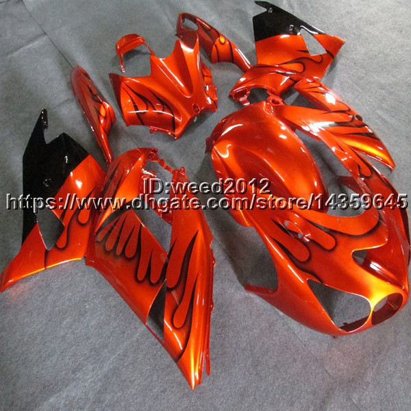 Botls + Custom Injection Mould Orange Motorrad Verkleidungen für Kawasaki Ninja ZX14R 2006 2016