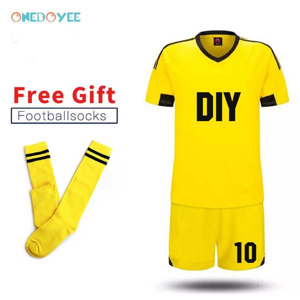 Grosshandel 2019 Neue Diy Team Soccer Uniformen Anpassen Herren Fussball Trikots Fussball Kit Jugend Kinder Fussballtraining Set Jungen Sport Anzuge