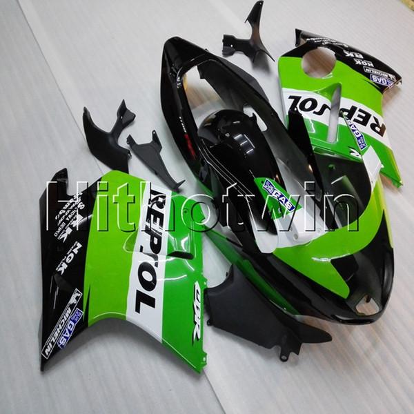 23 colores + Tornillos Molde de inyección repsol verde Artículo de motocicleta para HONDA CBR1100XX 1997-2003 ABS Plastic Fairing