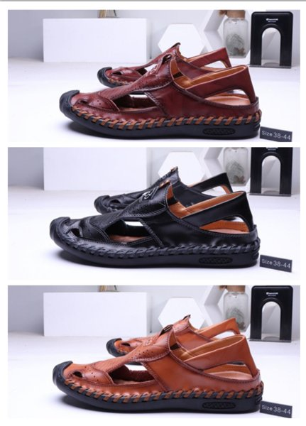 Misalwa Hot Summer Style Men Sandals Big Size Casual Vintage Crash Toe Male Beach Boardered Sandals Male Slippers Zapatos Hombre slipper fo
