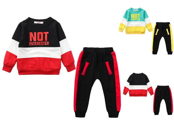 Baby kids Clothing Sets cute long sleeve sporting style top + pants 2 pcs sets clothing free shipping