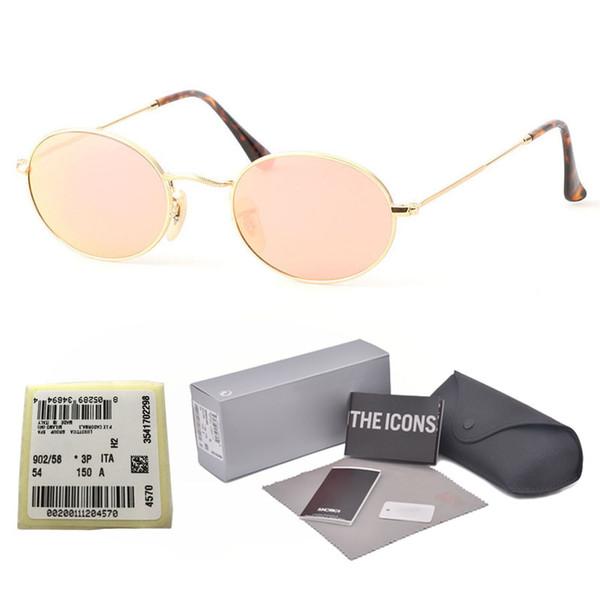 42ad5ecf9 1 pcs de Alta Qualidade Da Moda Oval Óculos De Sol Das Mulheres Dos Homens  Da
