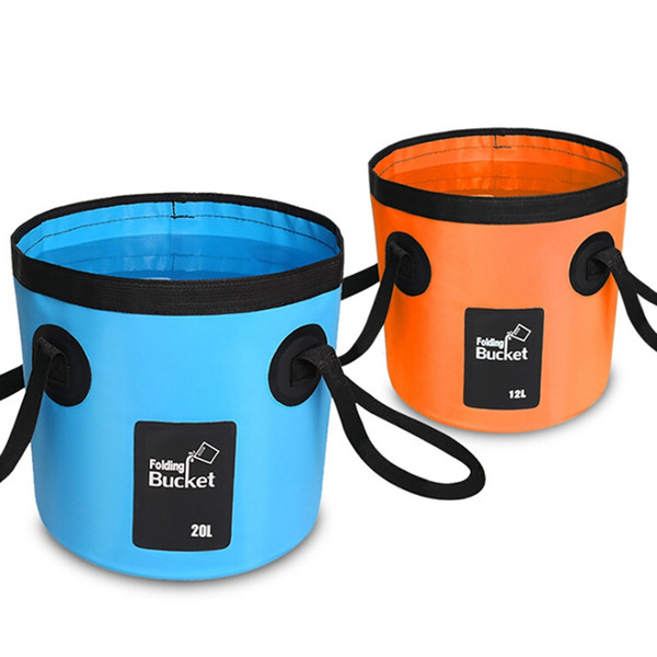 12L / 20L Mesh Falten Eimer Outdoor Supplies Angeln Angeln Eimer Tragbare Falten Wasser Tasche Outdoor Tools 2019 Neu