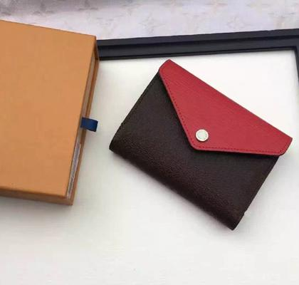 Luxury Classic luxury Original Box Real Leather Multicolor Coin Designer Purses Date Code Short Wallets Card Holder Zipper Pockets 60492