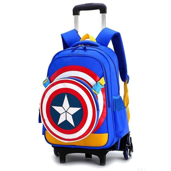 Travel bags for kid Boy's Trolley School backpack wheeled bag for School Trolley bag On wheels Rolling backpacks