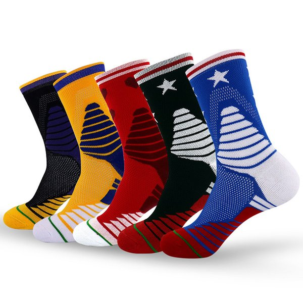 Outdoor Sports Men's Socks Breathable Sweat Absorption Deodorant Over-The-Knee Professional Basketball Elite Protection Mesh Sock Soccer Sox