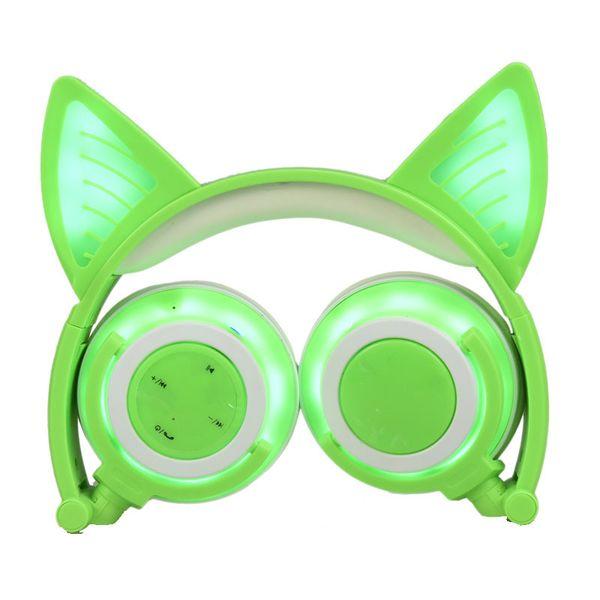 Cat Ear Светоизлучающий Зарядка Беспроводная Связь Bluetooth Наушники с Складной Наушники Мобильного Телефона