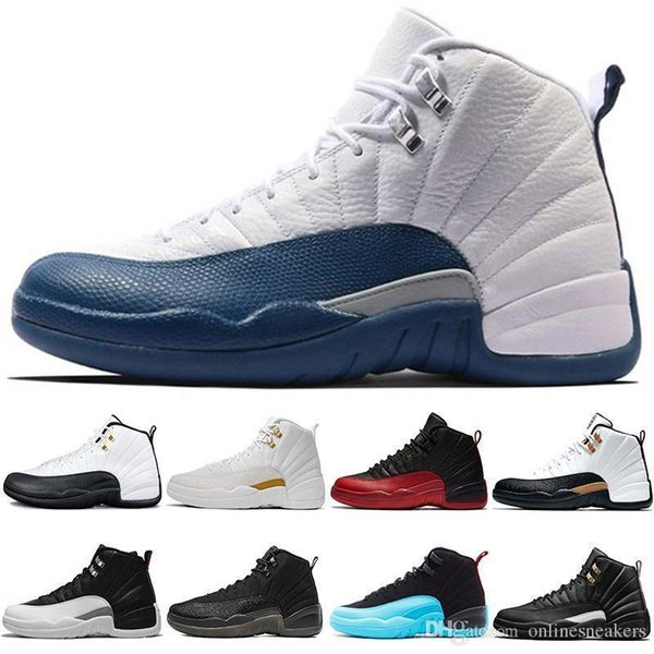 Basketball Cheap Shoes 12 12s Men Taxi The Master Flu Game French Gamma Blue CNY Black White Playoffs Mens Sports Sneaker Free Shipping