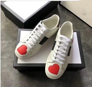 Erkek tasarımcı lüks ayakkabı Rahat Ayakkabılar beyaz kadın sneakers iyi nakış arı tarafında horoz kaplan köpek meyve yxl18041001