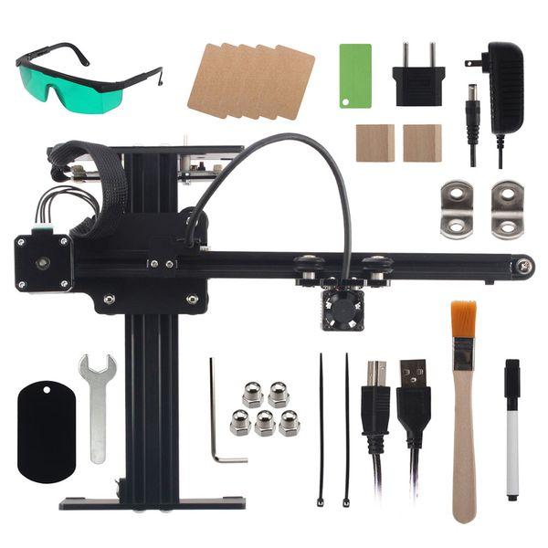 NEJE Mestre 7W CNC Máquina de Corte Laser Engraving Para Metal / Madeira Router / Papel 2 Axis gravador / Desktop Cortador de Laser Goggles