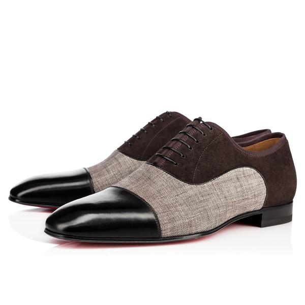 Affari di alta qualità Gentleman Sneaker Red Bottom Greggo Orlato Flats Uomo, donna Walking Wedding Party Dress Designer di lusso Red Suola Scarpe