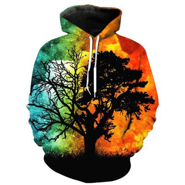 Newest Fashion Funny Psychedelic Tree Harajuku 3D Print Hoodies Fashion Clothing Women/Men Fashion 3D Hoodiest Casual Pullovers Top K456