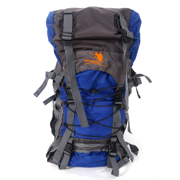 Free Knight SA008 60L Outdoor Waterproof Hiking Camping Backpack Blue