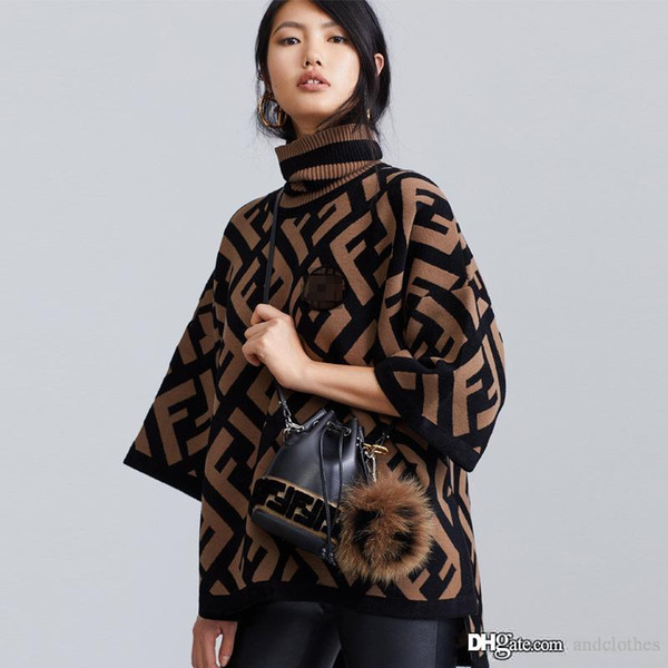 2019 женщин свитера pulloverLetter кашемировые свитера осень и зима качество Вязание Блузы свитер женщина дизайнер одежды класса люкс
