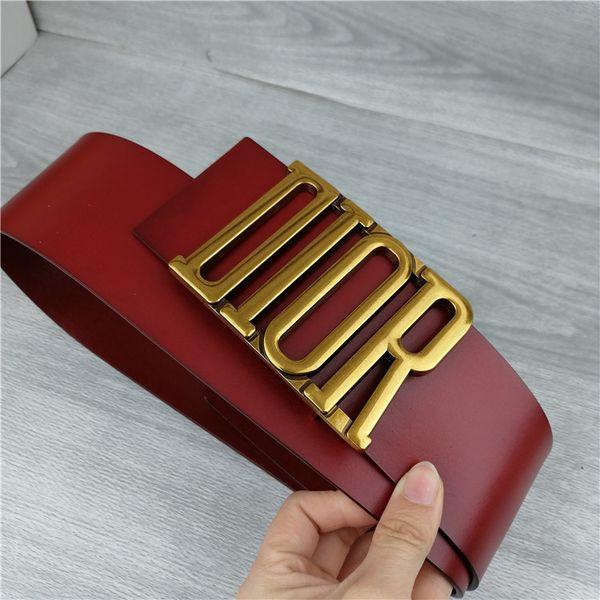 bajo precio 69505 9ba47 Compre Cinturón Femenino Para Mujer Carta De Moda Casual Hebilla De Oro  Cinturón Ancho Negro Y Rojo Con Buena Calidad 7 Cm 2019 Venta Caliente  A4568 A ...