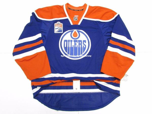 Cheap personalizzato EDMONTON OILERS HOME INAUGURAL STAGIONE MAGLIA punto aggiungere qualsiasi numero qualsiasi nome Mens Hockey Jersey XS-6XL