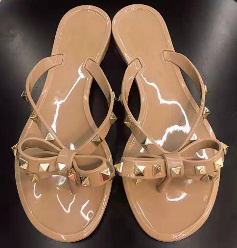 Hot Sale-ippers rebites série flip-flop chinelos de mulheres