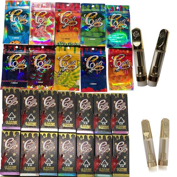 Cali Plug Carts 510 Ceramic Vape Cartridge Packaging Empty Vape Pen Vaporizer .8ML 1ML Thick Oil Atomizer E Cigarettes Vape Carts Paper Box
