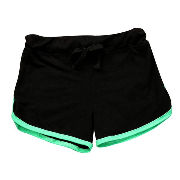 Cintura alta de verano para damas deportivas, correas elásticas cortas, costura para mujeres, caminatas cortas al aire libre, pantalones cortos ocasionales 2019 Z