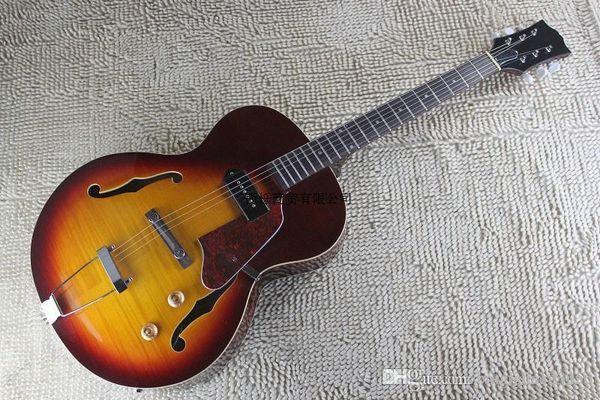 Free shipping 2014 Top qualitynew guitars new model non cutaway semi jazz electric guitar hollow body guitar