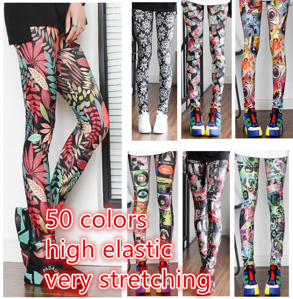 top popular Plus Size Stretching 50 Colors Ladies Casual Seamless Printing Leggings Sport Fitness Yoga Pants Jogger Wear Women Tights Tracksuit 2019