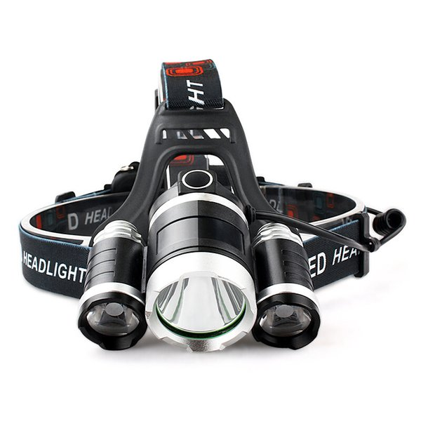 T6 Single Headlamps LED Miners Lamp Charging Type Headlight Zoom Dimming Strong Light Long Range Shooting Outdoors 15 9rcG1