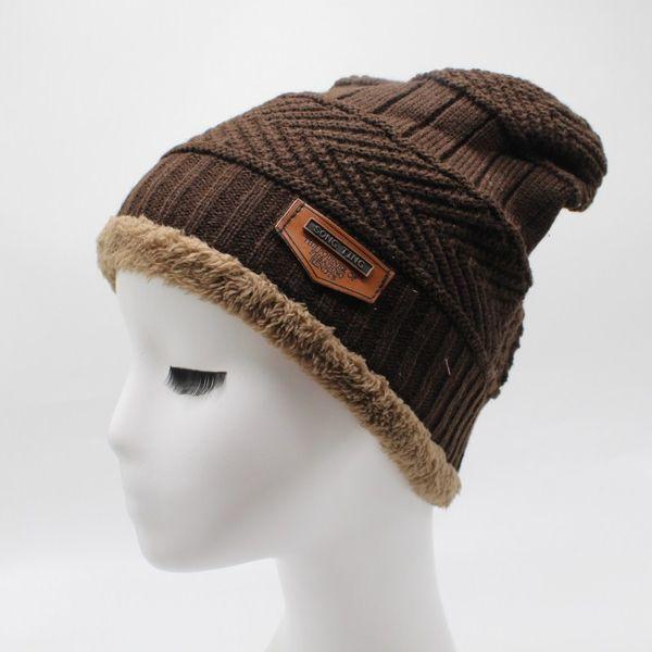Toptan-kadın kış şapka 2018 moda örme siyah şapka Şapka Kalın ve sıcak ve Bonnet Skullies Beanie Yumuşak Örme Beanies Güz