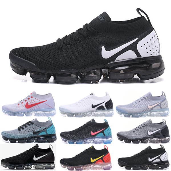 High-quality 2019 TN Running Shoes Mens New Fly1.0 2.0 3.0 Knit Triple Black White Designers Shoes Be True Mesh Sneakers 36-45 0YTRF