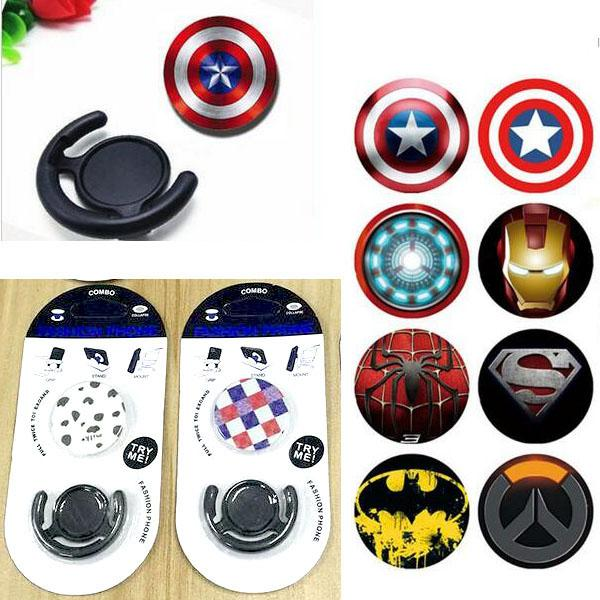 Universal Phone Holder Stands with Car Clip Mount Expandable Grip Stand Desktop Stand Sockets Finger Holder For iPhone Samsung