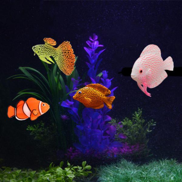 Новый искусственный аквариум рыбы световой моделирование рыбы силиконовый материал свет моделирование животных Аквариум пейзаж украшения