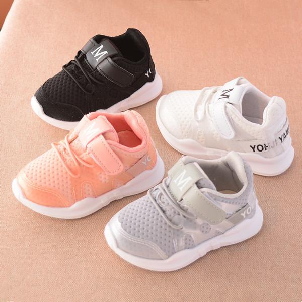 2019 Frühling Herbst neue modische net atmungsaktiv rosa Freizeitsport Laufschuhe für Mädchen weiße Schuhe für Jungen Marke Kinder Schuhe
