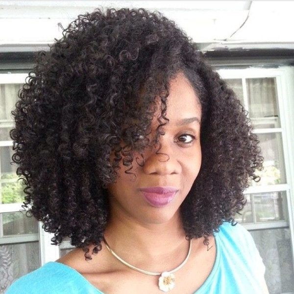 Glueless Afro Kinky Curly Full Lace Wig Pre Plucked Human Peruvian Afro Curly Lace Front Wigs Virgin Hair For African Americans