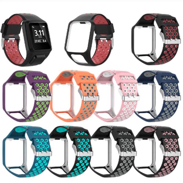 Bracelete de banda de silicone de substituição para TomTom Runner 2/3 Spark / 3 Sport GPS Watch Silicone WristBand Strap watch band bracelet smart
