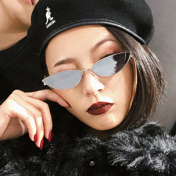 2019 Summer Women Cat Eye Sunglasses Metal Frame Cute Sexy Brand Designer Retro Small Frame Black Red Cateye Sun Glasses UV400