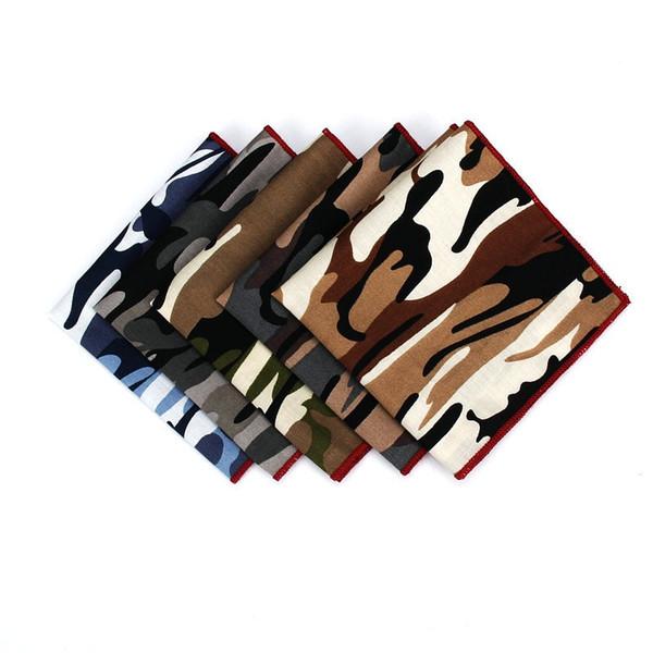 Lenços de camuflagem Terno Peito Toalha de Negócios Hanky Men Presente Retro Quadrado Cores Mix 3 5yf F1