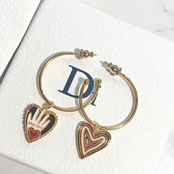 Designer Jewelry Love Earrings Valentines Day Gifts Open your Heart Earrings Heart Shape Ear Jewelry Hoop Earring for Women Girls