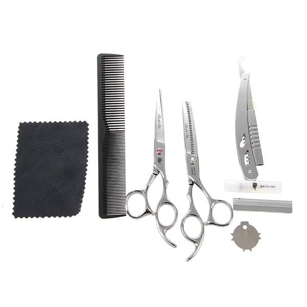 SMITH CHU Salon Heimgebrauch DIY Frisur Haare schneiden Effilierschere Schere Kamm Set