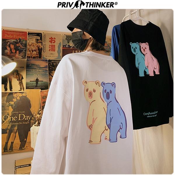 Men Woman Teddy Carton Bear Print Spring Hoodies Men 2020 Fashion O-Neck Sweatshirt Male Streetwear Clothing 5XL