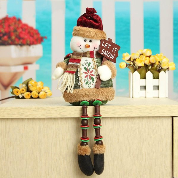 Wholesale- Special Offer ! ! Hot Sale Santa Claus Snow Man Reindeer Doll Christmas Decoration Xmas Tree Hanging Ornaments Pendant Best Gift