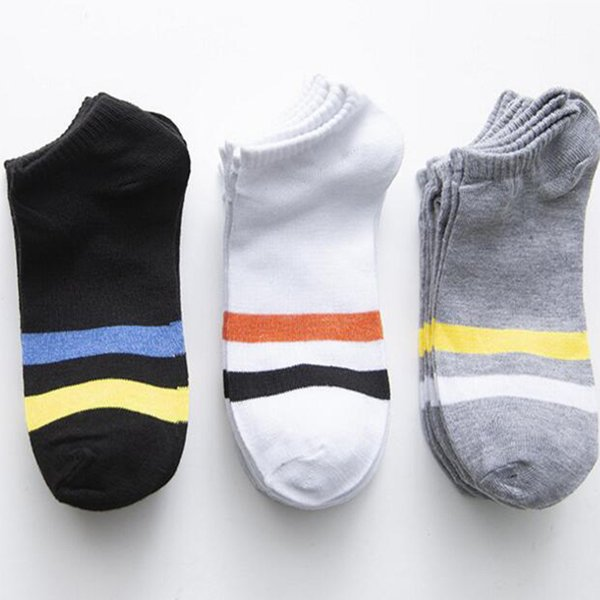 Wholesale Man Woman socks Summer Casual polyester breathable 3 Pure Colors sports Mesh short boat socks for Man woman