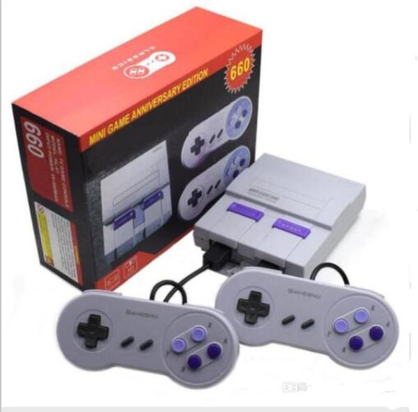 Super Classic SFC TV Mini console per videogiochi 2018 Nuovo sistema di intrattenimento per 660 SFC NES SNES Console per giochi SUP400