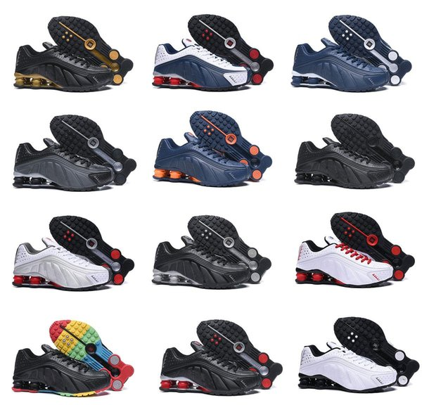 Barato Hox Quality Shox Avenue Sports Running Shoes For Cushion Air Shox Deliver NZ R4 Mens Runner Sneakers Hombre Zapatillas de tenis