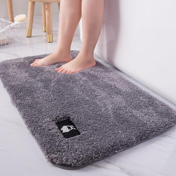 Soft Bathroom Mat Rug Non-slip Bath Mats Bathroom Rugs and Mat Washable Rectangle Bathmat Floor Mats Soft Microfiber Home Carpet