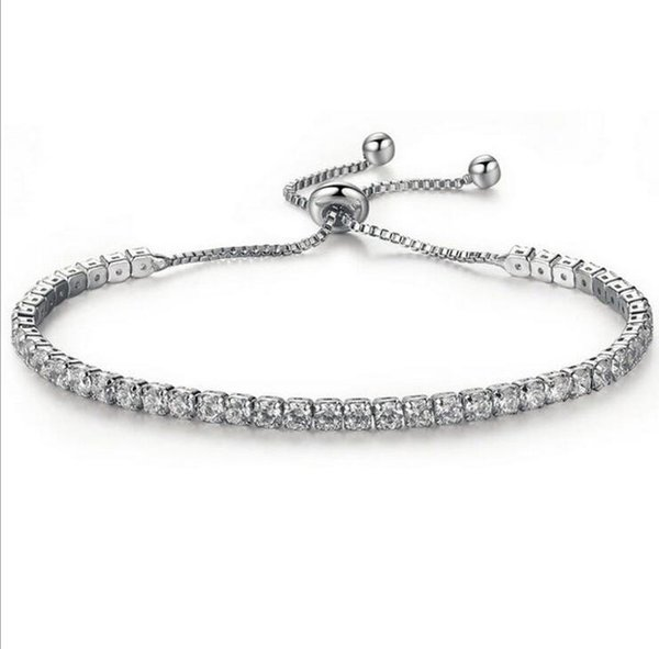Europe and the United States foreign trade new fashion low-key luxury exquisite diamond crystal push-pull bracelet AliExpress hot