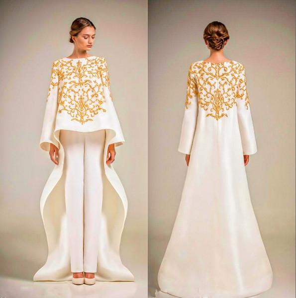 Compre Gorgeous Una Línea De Vestidos De Noche Vestidos De Cuello Alto Con Apliques De Encaje De Chaqueta Vestidos Para Ocasiones Especiales Vestidos