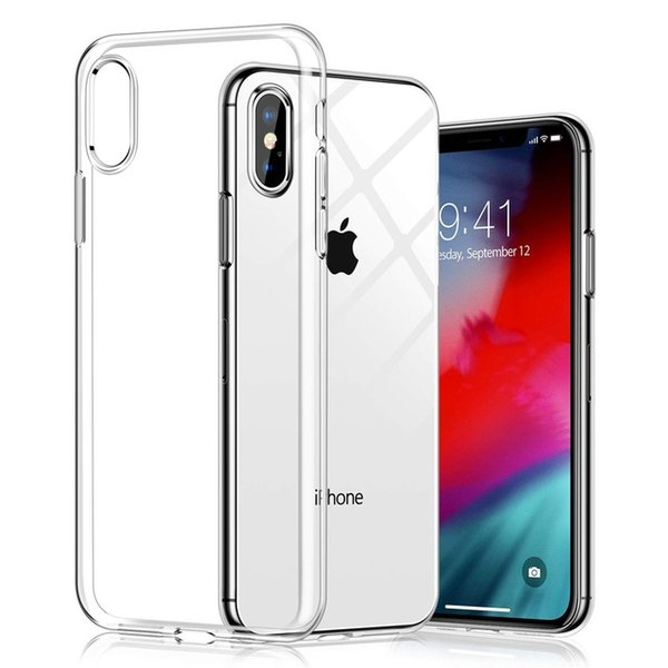 New Silicone Phone Case For iPhone XS Max XR X 8 7 6S Plus Clear TPU Cover Case For samsung s8 s9 s10 plus note 8 9 s6 s7 edge A8 A5 Coque