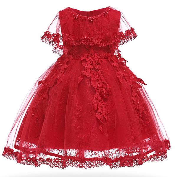 Bautizo Baby Girls Dress Infant Party Dresses Vintage Newborn Baptism Prom Gown Christening Frocks For Girl Dress 1st Birthday Y19061101