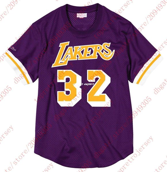 Cheap Custom #32 Johnson Mitchell & Ness Purple Top Mesh Jersey Shirt Mens stitched Summer Tee basketball jerseys Ncaa