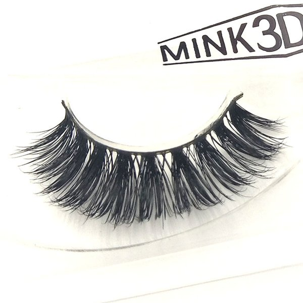 AMSIC 1pairs Makeup Natural False Eyelashes Black 3D Mink Fake Eye Lashes Long Make up Extension Tools for Beauty Maquiagem