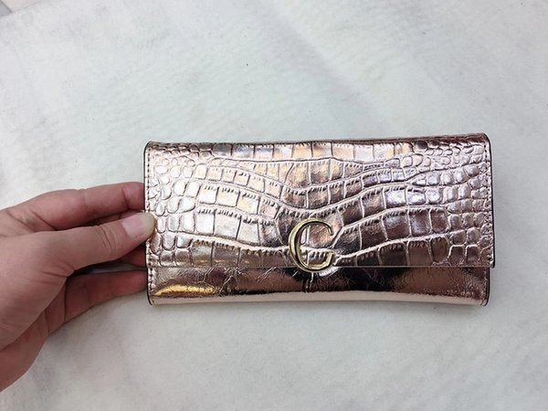 Korean version of the long leather wallet ladies students patent leather long wallet clutch bag handbag